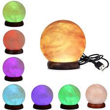 Himalayan Salt Lamp Globe Mini USB salt Lamp Natural Crystal Rock