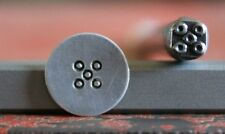 SUPPLY GUY 5mm Border Dice Pattern Metal Punch Design Stamp SGA-23, Made in USA