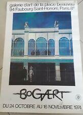 affiche exposition 1974 bogaert 40 sur 60 cm