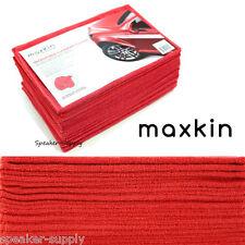 Maxkin 30 Pack Microfiber Car Cleaning Cloth Lot Bulk Red Auto Wash Set Maxa-11