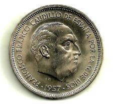 (ERROR COIN) ESTADO ESPAÑOL. 1957*(58). 50 PESETAS. EXCESO DE METAL