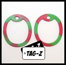 2 Christmas Tree Dog Tag Silencers - Green & Red - Military Silencer - Tag-Z