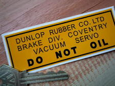 DUNLOP BRAKE SERVO Classic restoration sticker Ferrari Aston Martin etc