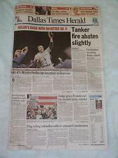 Nolan Ryan 6th No-Hitter -- Original Dallas Newspaper
