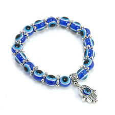 Punk Evil Eye Bead Protection Good Luck Bracelet Jewelry Hamsa Hand Bracelet Hot