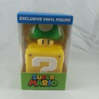 Super Mario 1-UP Mushroom On Block Exclusive Vinyl Figure Official Nintendo NEW