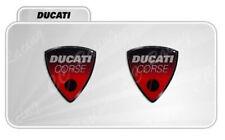 2 Adesivi Resinati Sticker 3D Ducati Corse 40 mm ROSSO old