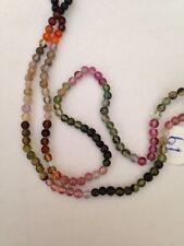 "14"" 3mm Natural Tourmaline Round Beads SALE"