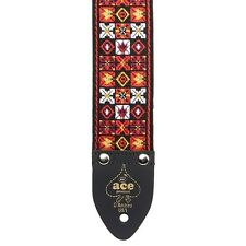D'ANDREA USA ACE VINTAGE REISSUE X'S AND O'S GUITAR STRAP - ACE 1