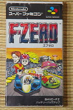 F-ZERO Complete Super Famicom SNES Japan SFC NTSC NEW BATTERY