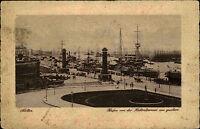 Stettin Szczecin Polen s/w AK ~1920/30 Hafen von der Flakenterrasse aus gesehen