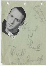 1938 University Of Wisconsin Football Player - Bob Schmitz Signed Picture Sheet