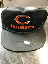 Hat- Nylon Black Chicago Bears Hat Football Sports Vintage Rare Old School