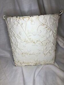 NEW Southern Living Pressed Tin Door Flower Bucket