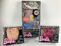 BARBIE DOLL FASHION ACCESSORY PACK ~ 12 Pieces & 2  skirts  lot of 3