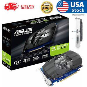 ASUS PH-GT1030-O2G GeForce GT 1030 2GB Phoenix Fan OC Edition HDMI DVI Graphics