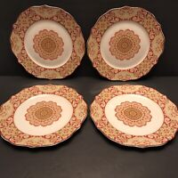 "222 Fifth Fine China Dinner Plates Lyria Saffron 10 5/8"" Set of 4"