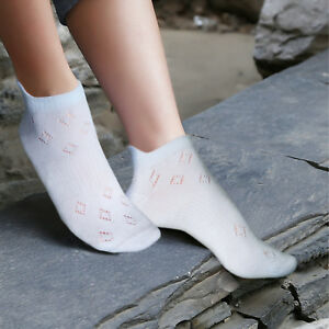 Ladies airy sports socks with minimal toe seams cotton trainer liners size XXL