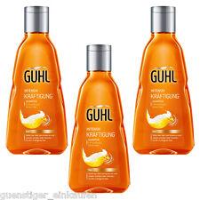 3x 250ml Guhl Intensive Strengthening Shampoo Beer for Limp Fine Hair
