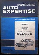 AUTO EXPERTISE n°60; Fiche S.R.A/ RENAULT 20 & 30 (r.1271 et r.1273) / 204/ 304