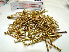 #10 Slotted Drive Flat Head Countersink Solid Brass Wood Screws 120 Pieces