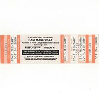 SAM MANGWANA Concert Ticket Stub MINNEAPOLIS MN 10/26/00 FIRST AVENUE Rare
