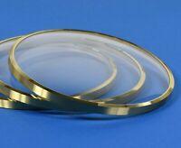 1 Uhrglas gewölbt mit Rand Uhren Glas f. Kaminuhr Tischuhr Uhrenglas clock glass