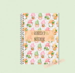 Multi coloured personalised Gonk (gnome) A5 Notebook/ Sketchpad Gonk stationery