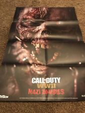 Call Of Duty Ww2 Ps4 Xbox One 24x36 Nazi Zombie Poster Never Removed From Packag