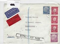 German Postal History Stamps Cover 1950's Ref 8751