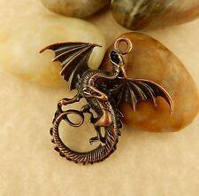 Antique Copper Dragon Pendant