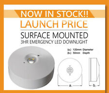 LED EMERGENCY LIGHT FITTING BULKHEAD 3WATT NON MAINTAINED EXIT surface Downlight