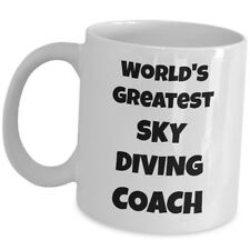 Worlds Greatest Sky Diving Coach Coffee Mug Gift Cup Trainer Mentor Instructor