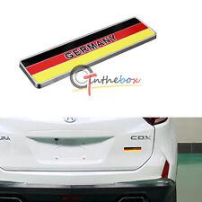 1x Metal Germany Flag Emblem Rear Badge Sticker For Car Grille Side Fender Trunk