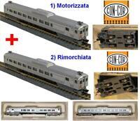 CON-COR 4482 + 4462 VINTAGE COPPIA LITTORINE MOTRICE+RIMORCHIATA PRR BOX SCALA-N