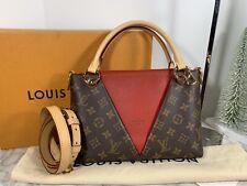 LOUIS VUITTON  Handbag V Tote BB Red Monogram canvas