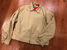 Vintage Big Mac Men's Soft Shell Zip Jacket Tan Red Lining Jcpenney
