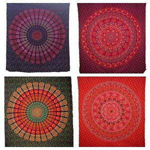 Chakra Mandala Bedsheet Bedspread Wall Hanging Barmeri Hippy Boho Double Large