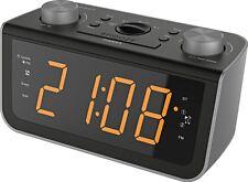 Soundmaster FUR5005 - UKW PLL-Uhrenradio mit Jumbo Display mit Dualalarm