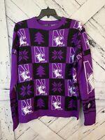 Northwestern University  Purple Pullover Sweater  Size XL
