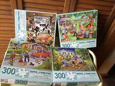 4- 300 Easy Grasp Complete Bits & Pieces Jigsaw Puzzles Farm Animals Etc Etc