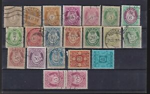 NORWAY INTERESTING LOT STAMPS-