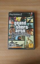 """Grand Theft Auto: San Andreas """"M"""" Version (Sony PlayStation 2, 2005) NO MAP"""