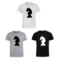Chess Signs Silhouette T-shirt Short Sleeve Round Neck Leisure Unisex Tops Tee