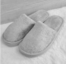 Men's Fluff Fashion Home  Winter Anti-slip Warm Soft Cotton Slippers Pure Color