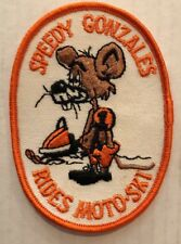 Vintage Patch NOS Speedy Gonzales Rides Moto Ski Snowmobile snow winter sew on