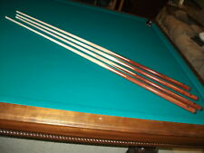 """4 Brand New One Piece Pool Cues sticks Bar House Maple 4-Prong inlay 57""""inch"""