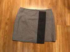 Mint Velvet Grey Wool Skirt UK14