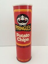 Vintage Pringles Potato Chips Regular Flavor Empty Can Red 1980s