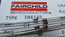 1N4148 Fairchild DO-35 100V 200mA Switching Signal Diode USA SHIPS FAST AND NOW!